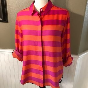 Vibrant Anne Taylor Button Down Top